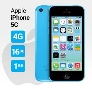 Apple iphone 5C Smartphone, iOS7, 4 Inch Display, 1GB RAM, 16GB Storage, Dual Camera - Blue