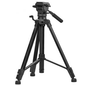 Promate Camera Tripod, Professional Aluminum 170cm Tripod with 3 Way Pan head, Quick Release Plate, 5KG Load Capacity, Bubble Level for Canon, Nikon, DSLR Camera, Video Camcorder, Precise-170