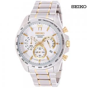 Seiko Men Analog Chronograph Stainless Steel Watch, SSB309P1
