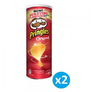 Pringles Original Flavored Chips 165 grams (Pack of 2 Cans), 70021.528