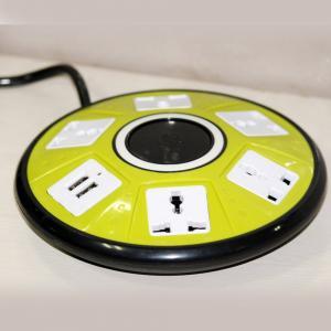 Biaba Best 5 Power Socket UFO With Dual USB UFO Socket, Assorted Color
