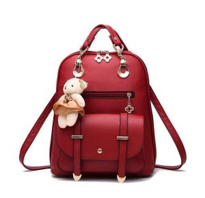 Vogue Star New Designer Women Backpack For Teens Girls-Red