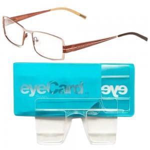 2 In 1 EyeCard Reading Glasses 2.5 Credit Card Size And Jacques Lemans Womens Rectangular Eyeglasses Frame, JLF 1-6026 B