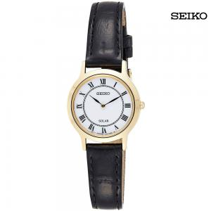 Seiko Women Analog Leather Watch, SUP304P1