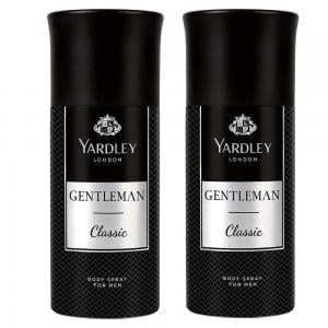 Yardley Gentleman Classic Body Spray For Men 150ml, Pack of 2