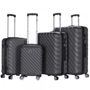 Stargold 4 PCS 20 inch, 24 inch, 28 inch and 32 inch ABS Trolley, SG-T94D, Charcol