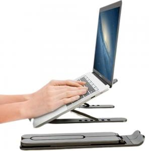 Height Adjustable Laptop Stand Black