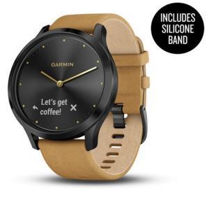Garmin 010-01850-00 Vivomove HR Ww Premium Black-Tan One Size