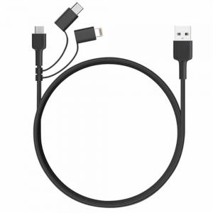 3 In 1 MFI Lightning Cable with Micro USB and USB C Cable, CB-BAL5