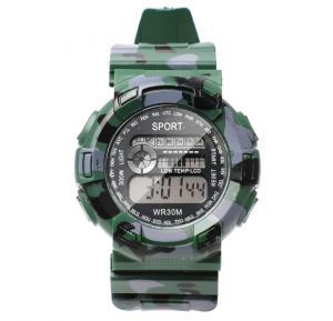 Digital Analogue Sport watch WR30M Green,Alg003