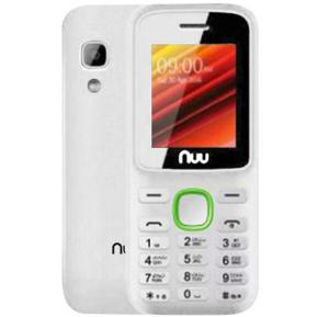Nuu F2 32MB RAM 64MB Storage Mobile Phone with Camera - White & Green