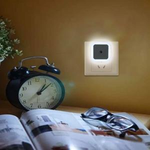 Smart LED Light Sensor Lamp Plug In Electric Small Night Light, Assorted Color