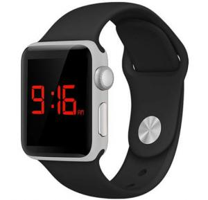 Zooni Multi Color LED Touch Stylish Unisex Resin Band Watch