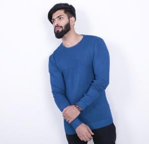Score Jeans Mens Sweater Full Sleev Blue - HF533 - L