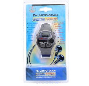 FM Autoscan Radio Watch with Quality Stereo Headphones, STGT004