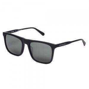 Calvin Klein CKJ20526S Black Square Sunglasses For Men Gray Lens, Size 56