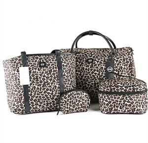 4in1 Okko Trolley Bag Color- Cheetah Print Reddish Brown Doted-36410
