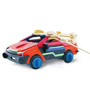 3D Painting Wooden Puzzles Car Model Kit for Kids,HC256