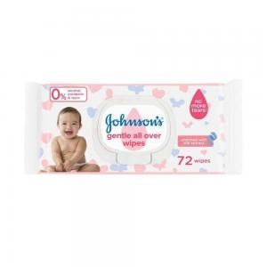 Johnsons Gentle All Over Wipes 72 Pcs