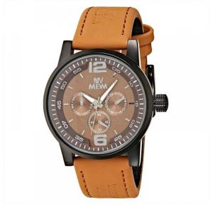 Mewa Mens Brown Dial Leather Band Watch 6038F57