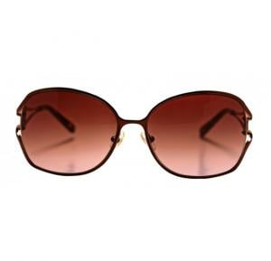 Aigner Round Metal Brown Frame & Brown Gradient Mirrored Sunglasses For Women - AI-SF-03A-COL2