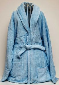 Rest Cotton Bathrobe Unisex Sky Blue Color, 9032155