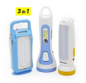 3 in 1 Krypton Rechargeable LED Torch and Lantern, KNFL5036
