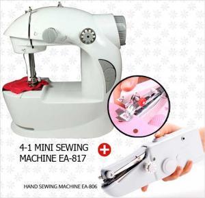Bundle Offer! Buy 4-1 Mini Sewing machine EA-817 + Hand Sewing Machine EA-806