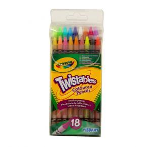 Crayola 18 Twistables Coloured Pencils - CY68-7418