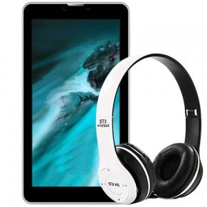 2 In 1 Lenosed 2gb 16 gb 4g,LTE,Tab, T82 And ST3/P47 Wireless Headphone