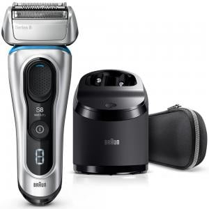 Braun 8390CC Series 8 Wet And Dry Electric Shaver, Silver