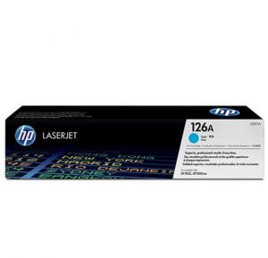 HP 126A Cyan Original LaserJet Toner Cartridge, CE311A