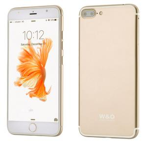 W&O IP7 Plus Smartphone, Android OS, 5.5 Inch HD Display, 2GB RAM, 32GB Storage, Octa Core 1.5GHz-Gold