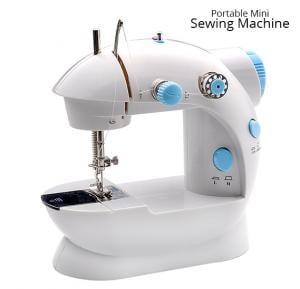 Portable Mini Sewing Machine, White HHE-7752