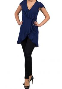 WAL G Italy V Neck Casual Dress Navy - WG 7762 - XXL