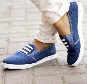 Ladies Denim Shoes Blue Sizes From US 38 To US 42 - 2921