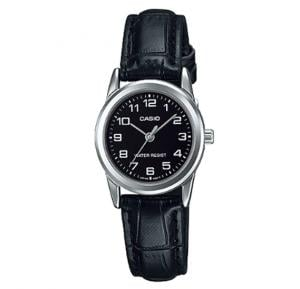 Casio Genuine Leather Watch For Women, LTP-V001L-1BUDF
