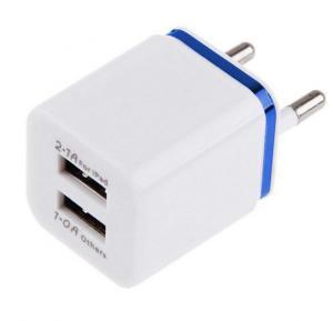 Universal 2.1A/1A 2-Port USB Wall Adapter Charger EU Plug