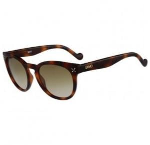 Liu Jo Wayfarer Tortoise Shell Frame & Light Brown Mirrored Sunglasses For Woman - LJ618S-215