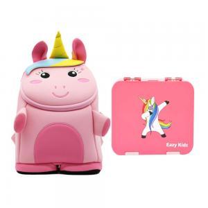 Nohoo CM_NHBN_001 Unicorn 3D Bag + Bento Lunch Box Pink