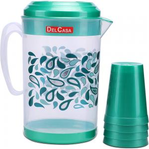Delcasa Water Jug with 4Pc Glass DC1513
