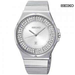 Seiko Ladies Analog Stainless Steel Watch, SXDF71P1