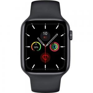 W26 Waterproof with IPS Color Screen Smart Watch 44mm, Black