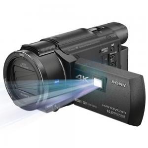 Sony FDR-AXP55 4K Handycam Camcorder, 8.29 MP, with Built-in Projector, Black