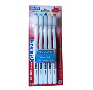 Glaze Toothbrush 5Ps Family Pack  Hard
