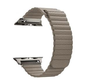 Promate Lavish-38 Leather Apple Watch Band 38mm/40mm, Beige