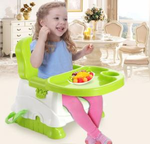 Lovely Children Baby Dining Chair Portable Folding Baby Feeding Chair Multi-functional Plastic Tables Chairs Baby Chairs- BH-503