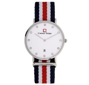 Lavenir Temps Analog Red Nato Strap Watch For Woman - W-LT00583YBR-4