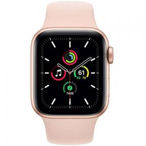Apple Watch SE-40mm GPS Gold Aluminium Case with Pink Sand Sport Band