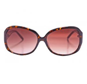 Aigner Round Havana Frame & Brown Gradient Mirrored Sunglasses For Women - AI-SF-05A-COL2
